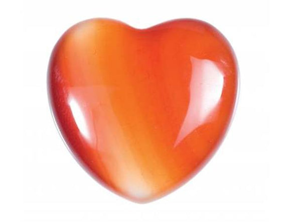 Carnelian Gemstone Heart Small