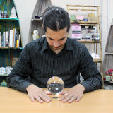 Crystal Ball on Stand 100mm