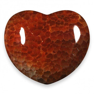 Fire Agate Heart Large