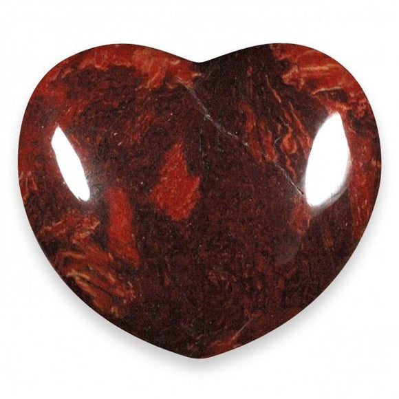 Poppy Jasper Gemstone Heart Large