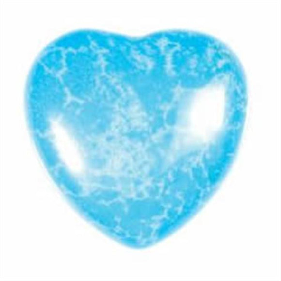 Turquoise Howlite Gemstone Heart Small