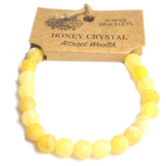 Power Bracelet- Honey Crystal