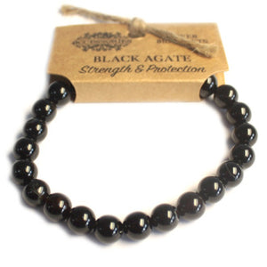 Power Bracelet- Black Agate