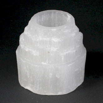 Selenite Mountain Candle Holder- 8cm