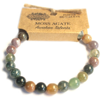 Power Bracelet- Moss Agate