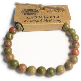Power Bracelet- Green Jasper