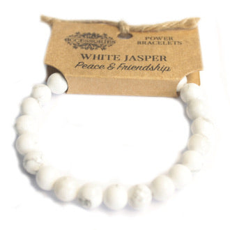 Power Bracelet- White Jasper