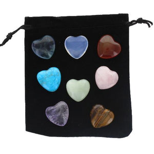 Eight Heart Gift Set with a Drawstring Pouch