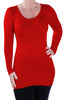 V Neck Fine Knitted Pullover