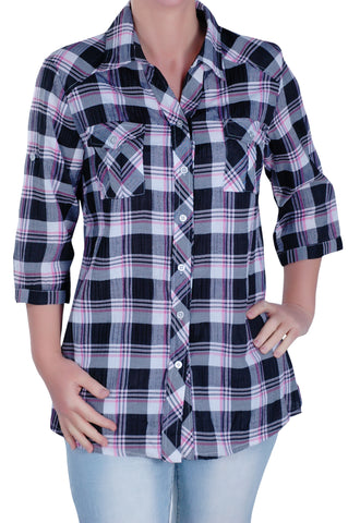 Modern Checkered Plus Size Shirt