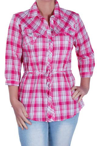 Checkered Plus Size Shirt