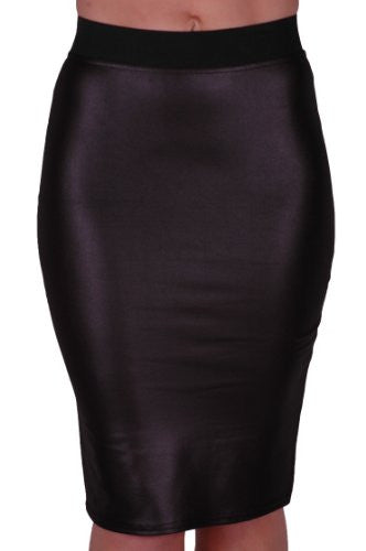 1PVC Wetlook Bodycon