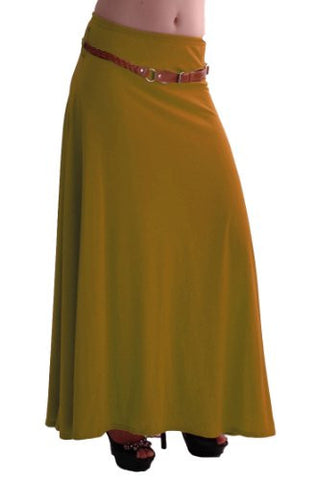Romina Gypsy Jersey Belted Maxi Skirt