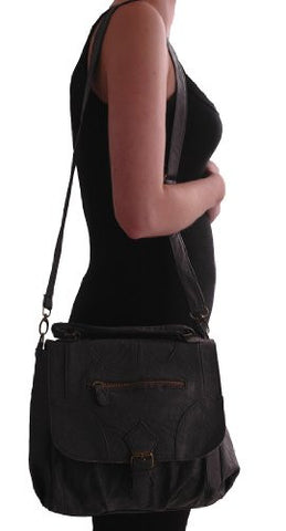 Chelsey Faux Leather Cross Body Bag