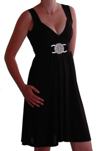 1Infinity Grecian Buckled Short Dress