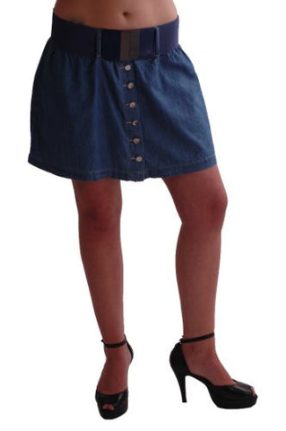 Denim Blue Mini Skirt