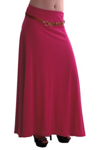 1Romina Gypsy Jersey Belted Maxi Skirt