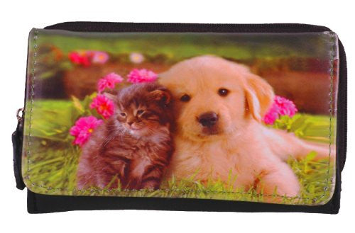 1Dog and Cat Faux Leather Purse