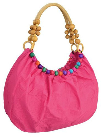 Isla Beads Ruched Shoulder Bag