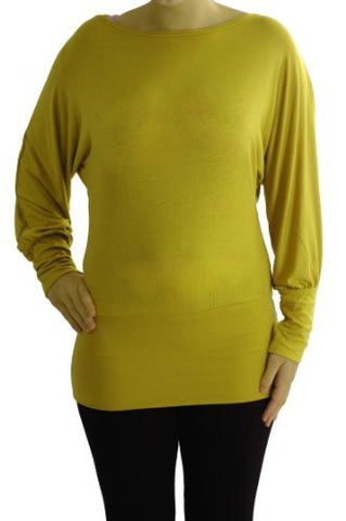 Amelie Long Batwing Sleeve Tops
