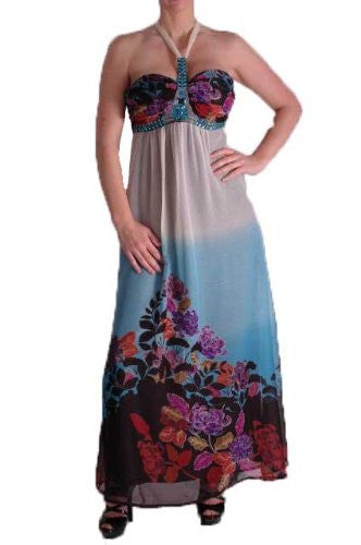 1Valentine Halter Neck Maxi Dress