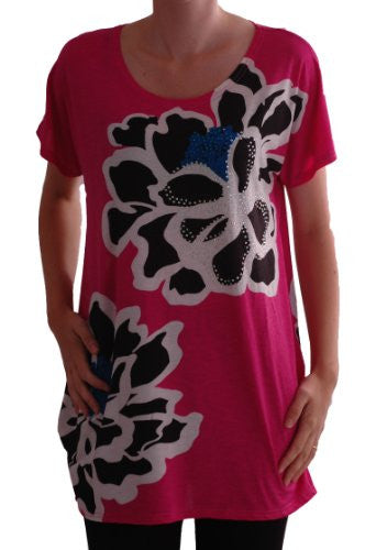 1Tabitha Long Floral Tunic Tops