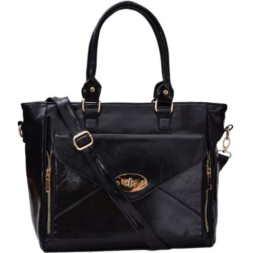 1Mallory Faux Leather Satchel Bag