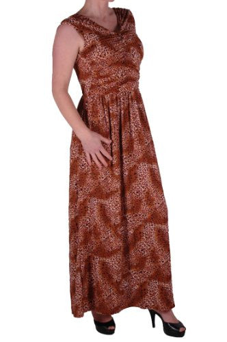 1Verity V Neck Ruched Leopard Print Maxi Dress