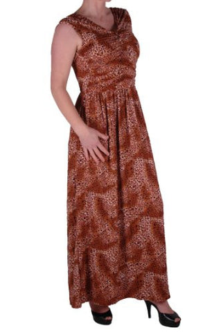 Verity V Neck Ruched Leopard Print Maxi Dress