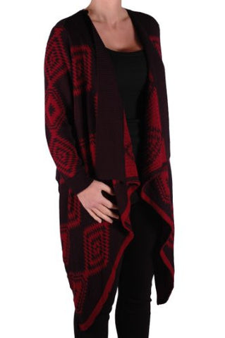 Kate Open Front Knitted Waterfall Cardigan