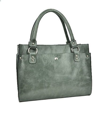 Capella Faux Leather Satchel Bag