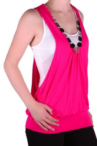 Valonia Sleeveless Plain Twinset  Tops