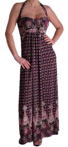 Dido Halter Neck Maxi Printed Dress