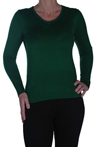 V Neck Fitted Stretch Jumper