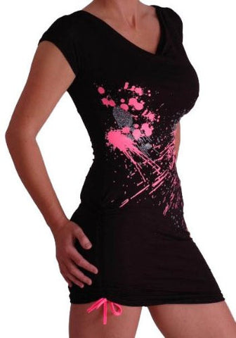 Splash Graphic Short Dress