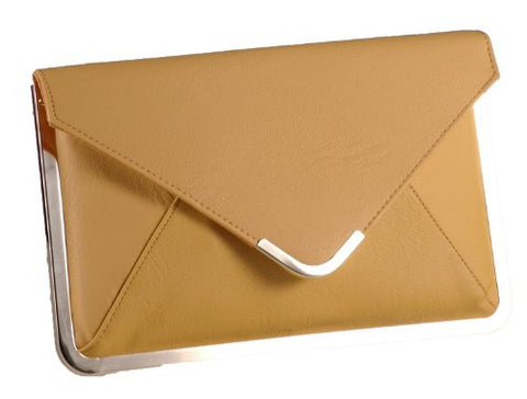 Angel Envelope Clutch Bag With Metal Trim
