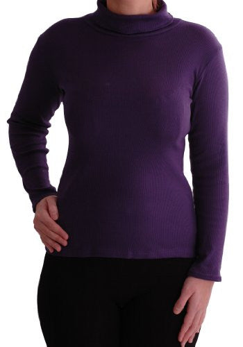 1Gail Ribbed Polo Neck Tops