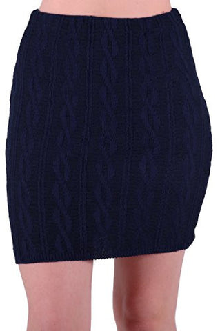 Ren Cozy Sweater Braid Knit Skirt