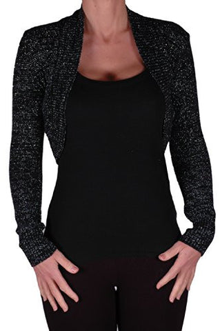 Lara Lurex Long Sleeve Knitted Shrugs