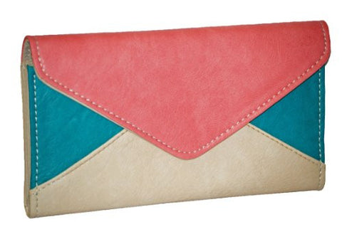 Uma Three Tone Faux Leather Wallet
