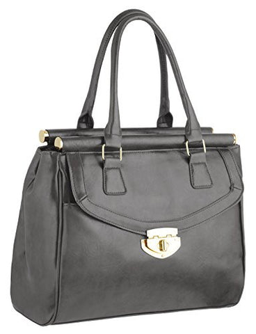 Meg Faux Leather Tote Bag