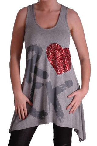 Love Rock Sleeveless Tops