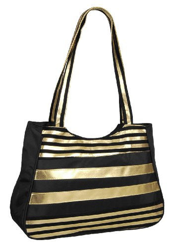 Gold & Black Shoulder Bag