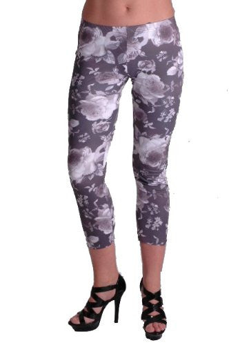 1Clothing Floral Print Leggings