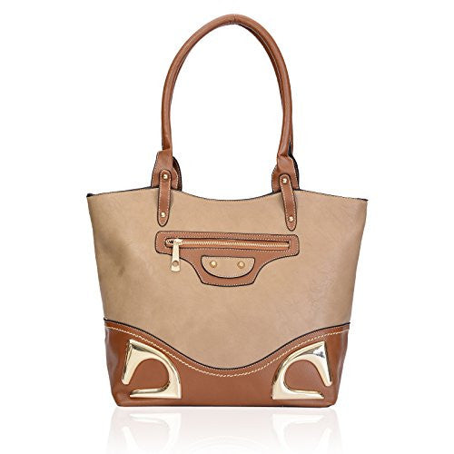 1Faux Leather Tote Bag