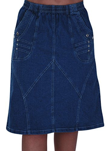 Viva Denim Knee Length Skirt
