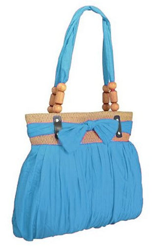 Katy Ruched Bow Shoulder Bag