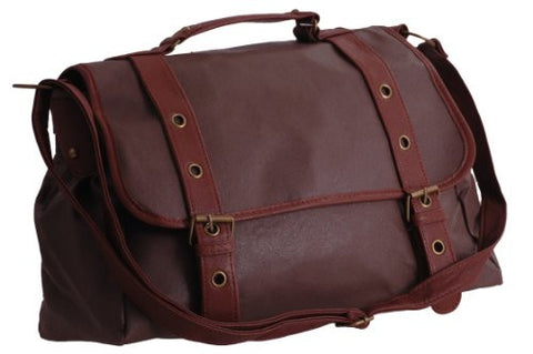 Contour Faux Leather Satchel Bag