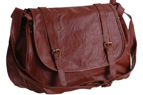 Adele Faux Leather Satchel Bag