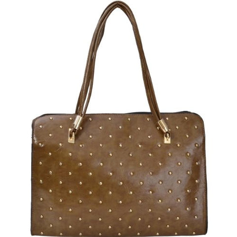 Godiva Faux Leather Studded Satchel Bag